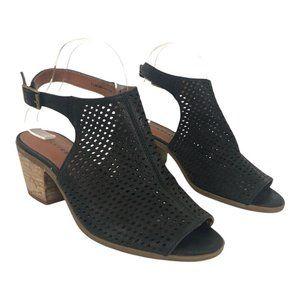 Lucky Brand Bertel Leather Open Toe Sandal Bootie